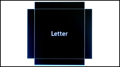 Letter size guides shown against a white, semi-transparent background. For each of these document guides, there are two backgrounds: one with this white background, and one without.