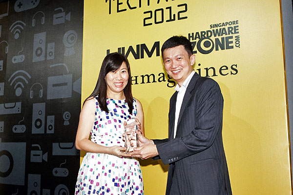 D-Link won the Reader's Choice award for Best NAS Brand. Accepting the award was Ms. Estella Tan, Sales Director for D-Link.