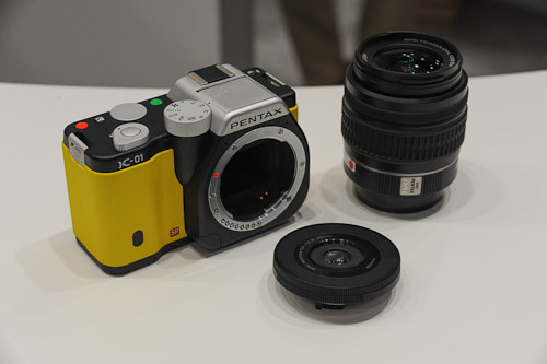 The Pentax K-01 is rather fat. Its new pancake lens is amazingly thin though.