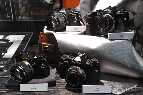 Oldies but goodies, the original OM film cameras from Olympus.