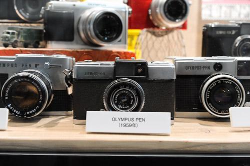 Original Olympus Pen cameras.