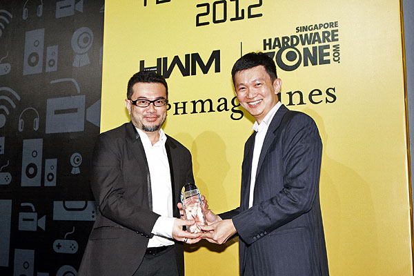 Intel has won both the Reader's and Editor's Choice awards for Best Desktop CPU. Receiving the award was Mr. Collin Tan, Country Manager (Singapore) for Intel.