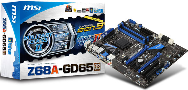The MSI Z68A-GD65 (G3) is currently the only Z68 motherboard from MSI with a BIOS update that supports Intel's upcoming processors