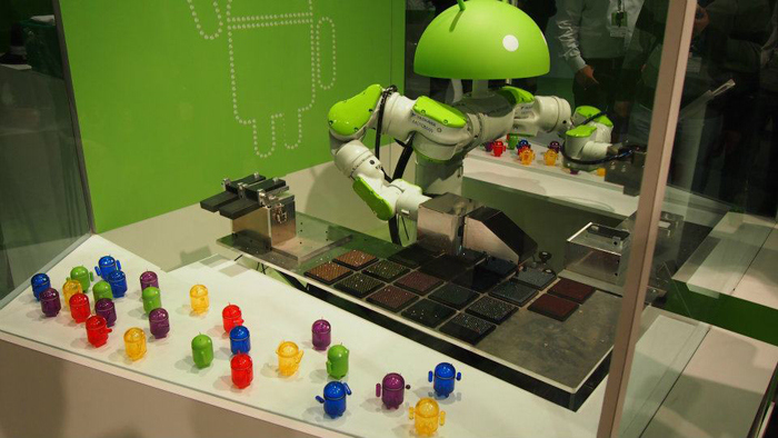 ...his minions, ready to listen to their Android overlord!
