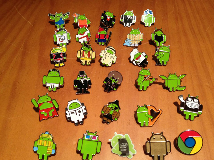And the Android pins make another appearance at Mobile World Congress. Got to catch them all!