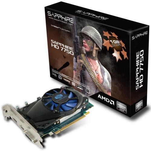 Sapphire HD 7750 1GB GDDR5 <br> Core Clock: 800MHz <br> Memory Clock: 4500MHz