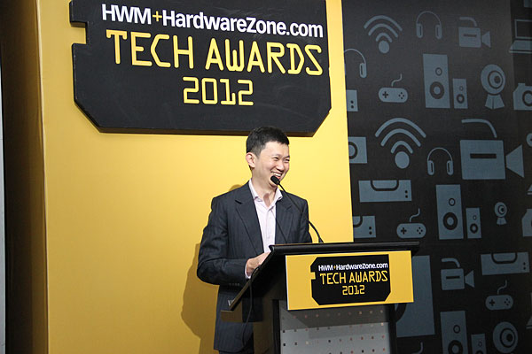 Don't know him? He is none other than Dr. Jimmy Tang, Group Editor for HWM and HardwareZone.com. Here, he was sharing with the audience some stats for this year's Tech Awards, and on HardwareZone.com's upcoming initiatives for the region. Remember to keep your eyes peeled on our site.
