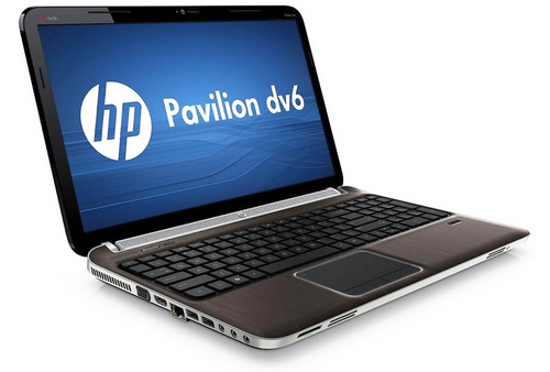 The very stylish HP Pavilion dv6.