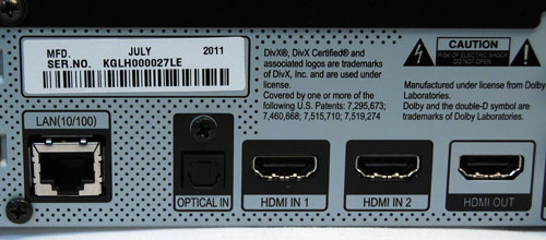 Three HDMI ports are provided although only one is able to support 3D playback. At the same time, an Ethernet port is available for you to connect to the internet and enjoy web content.