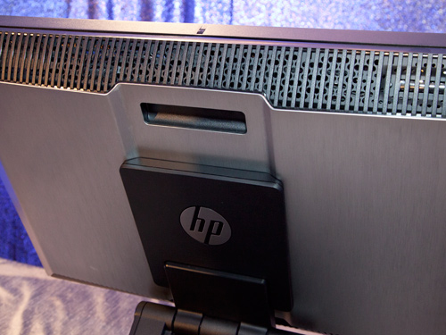 Behind the screen, you'll find the familiar looking HP Z-series workstation handle which makes it really easy for anyone to transport this system around the office. Above it, you'll find a large a large ventilation grill that cuts across the width of the system. The vent here is critical to the system's cooling system and it plays a vital role in keeping the system operating noise low.
