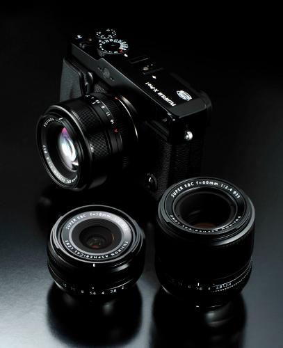 The FUJIFILM X-Pro1 along with the three XF FUJINON lenses
