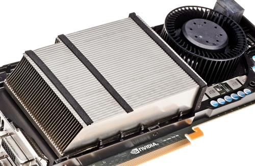 The finstack of the heatsink that sits beside the GPU fan made from acoustic dampening material. If NVIDIA can pull out such stops for its reference card, we wonder what the card manufacturers would have to do to go above this bar that NVIDIA has set with these features.