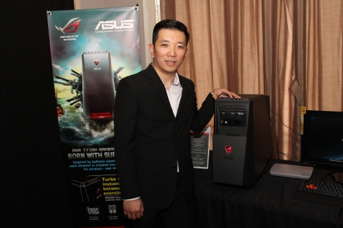 Seen here with the awesome-looking ASUS ROG Tytan CG8565 is Jacky Lim, Business Development Director of ASUSTek Computer Malaysia Sdn Bhd