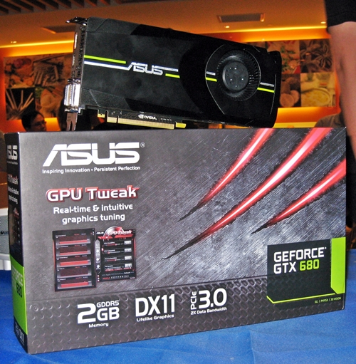 According to ASUS, the ASUS GTX 680 card is a near-verbatim interpretation of the reference NVIDA GeForce GTX 680 graphics card. We are sure that there would be other interesting Kepler-based variants from the company in the near future. We also overheard that its street retail price is about S$870. Time to start saving!
