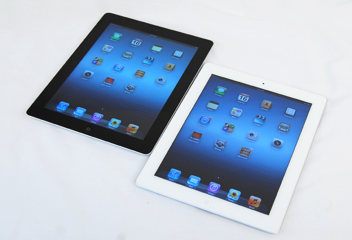 You can't really tell the difference between the new iPad and the iPad 2 looking at it like this, but scroll down and we'll give you an in-depth look at just how different the new display is.