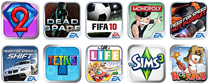 Yep, ten free EA games for the taking if you purchase the Motorola Atrix 2.