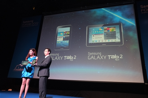 One of the highlights of the keynote address is the introduction of the second-generation GALAXY Tab 2 tablets in 7.0- and 10.1-inch form factors