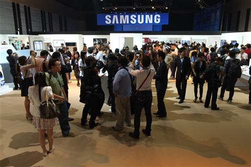 The showfloor offered the very latest of Samsung's consumer products from a wide spectrum