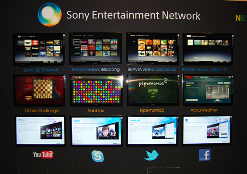 The Sony Entertainment Network will provide apps and video content to users. It will be available across platforms such as TVs, Tablets and Smartphones.