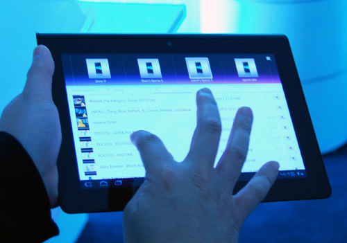 Throwing content from one device to another is as simple as a flick of the wrist of a swipe of the finger.
