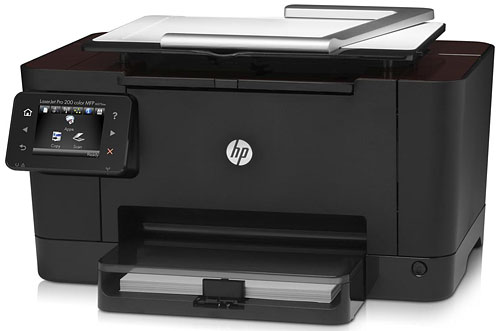 The HP TopShot LaserJet Pro M275 is a color laser MFP equipped with an 8MP 'camera'.