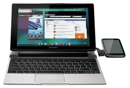 Other than the Motorola Atrix 2, the Lapdock 100 is also compatible with the Motorola Razr smartphone.