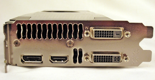 The card features two Dual-Link DVI ports, a HDMI port and a DisplayPort for support of up to four displays - all natively on the GPU.