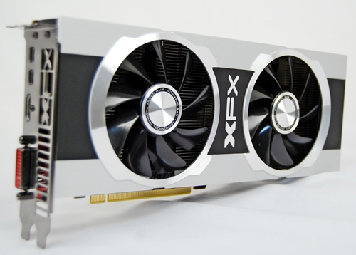 The XFX R7950 Black Edition Double Dissipation has its Tahiti Pro GPU overclocked by 100MHz to 900MHz. Its 3GB of GDDR5 video memory is rated at 5500MHz, an increase of 500MHz from the factory default rate of 5000MHz.