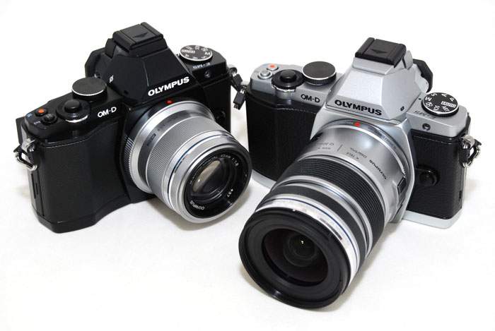 The Olympus OM-D E-M5 comes in black and silver, both equally beautiful we think.