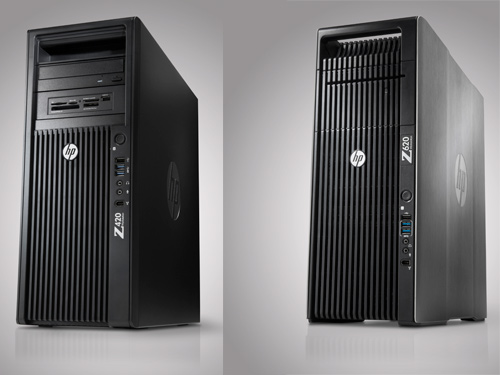 The new HP Z420 (left) and HP Z620 (right) workstations.
