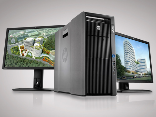 The flagship HP Z820 workstation.