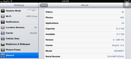 Looks like the current carrier settings doesn't come with personal hotspot on the new iPads.