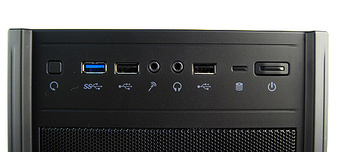 The Elite 431 Plus has been updated to include a single USB 3.0 port. Along with it, it also gets two USB 2.0 ports, the usual power, reset buttons, and headphones and microphone jacks.