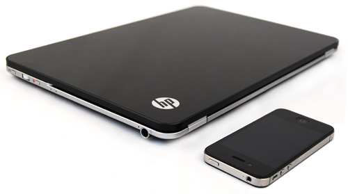 Coincidence or not? The new HP Envy 14 Spectre has more than just a familiar look and feel to another fruity product.