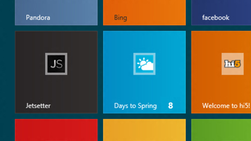 Sites can be pinned to the desktop and they function like Live Tiles. (Source: arstechnica.com)
