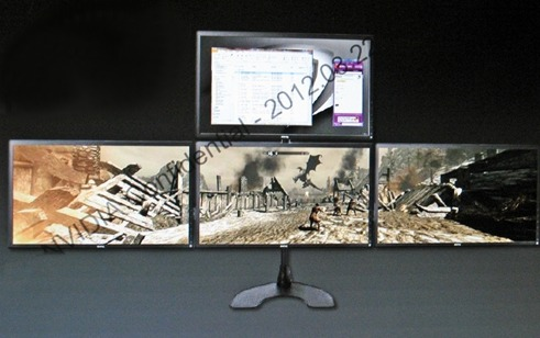 A lone GeForce GTX 680 supports up to four displays!
