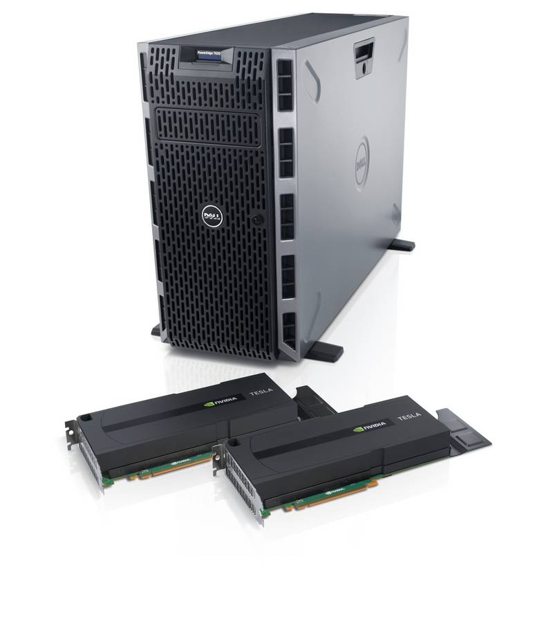The latest 12th generation Dell PowerEdge servers feature NVIDIA Tesla GPUs