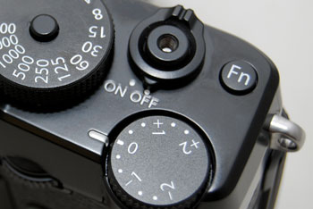 The X-Pro1 doesn't offer much in terms of customization, there is only one Function button, found on the top of the camera.