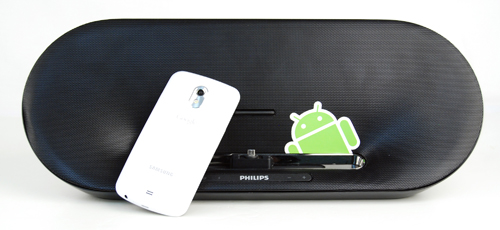 We tested the Philips Fidelio AS851 Docking Station primarily with our Samsung Galaxy Nexus phone.