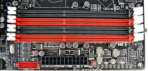 For single channel operation, the top black DIMM slot is to be populated first. Given the current prices of RAM modules, it shouldn't be hard to populate all four slots for maximum dual-channel memory operation effectiveness.