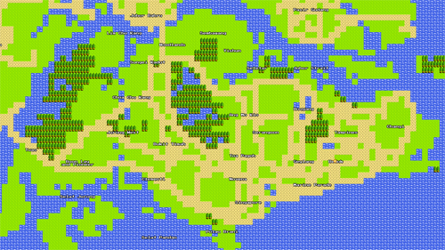 Google Maps is now available in 8-bit. Happy April's Fool, everybody! (Image source: Google)