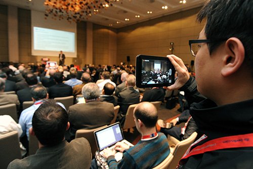 Hundreds of journalists from all over the world, attend the IFA Global Press Conference 2012 in Dubrovnik, Croatia to hear what the brands, analysts and panelists feel about trends and products in the world of consumer electronics.