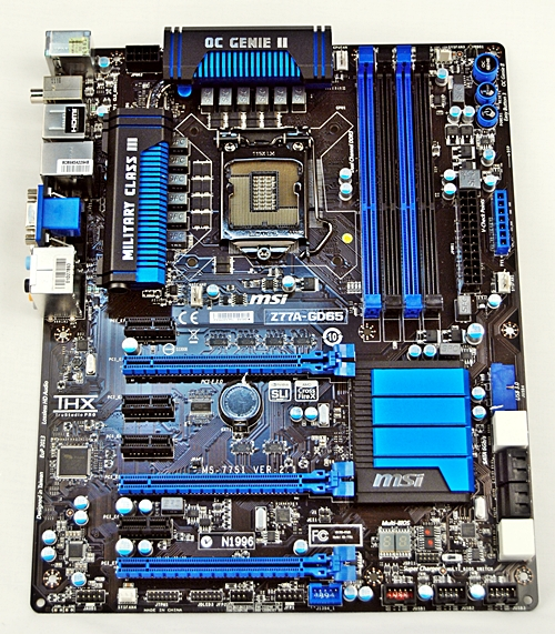 MSI is committed to build up its range of motherboards featuring its Military Class III components. The MSI Z77-GD65 is the second generation of these boards as MSI first featured these components in their Intel X79 motherboards.
