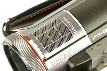 The HC-X900M has five electret condenser microphones, capable of recording audio in 5.1-channel surround goodness.