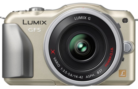 The latest addition to the Lumix G Micro System family of cameras, the GF5 is a digital interchangeable lens system camera which offers higher image quality even in high sensitivity. (Image source: Panasonic)