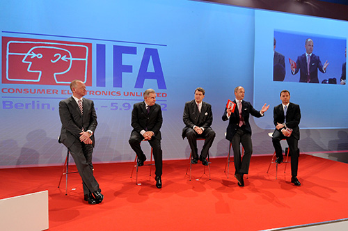 According to the panel and organizers of IFA 2012, the show this year is oversold (despite the current news on the European crisis). In fact, unlike previous years, there will be a new international airport (Brandenburg Airport) in Berlin with direct flights from 173 destinations and 50 countries. So expect this year's show to be internationally big.