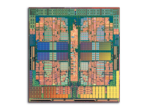 AMD's new Opteron quad-core processor is manufactured on a single silicon die.