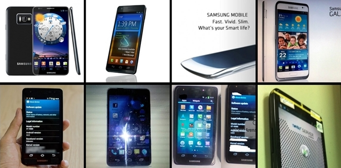 "Here's a quick look at the many alleged ""faces"" of the Samsung Galaxy S III."