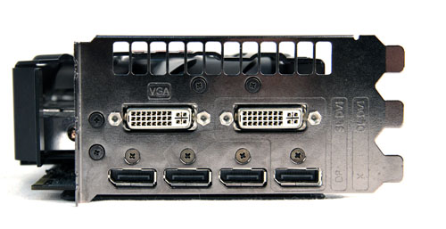 Six monitor ports on a single card! An HDMI port would have been nice though.