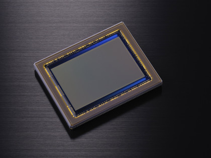Full-frame (35mm) sensors like this one are bigger than the APS-C sensors in most DSLRs. They provide much better image quality but are expensive. The D600 may be the first truly affordable full-frame DSLR.